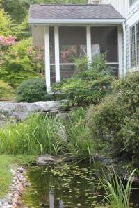 landscape design with stream